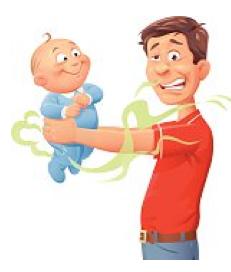 Couche de bébé : comment la changer en 6 gestes, papa ?