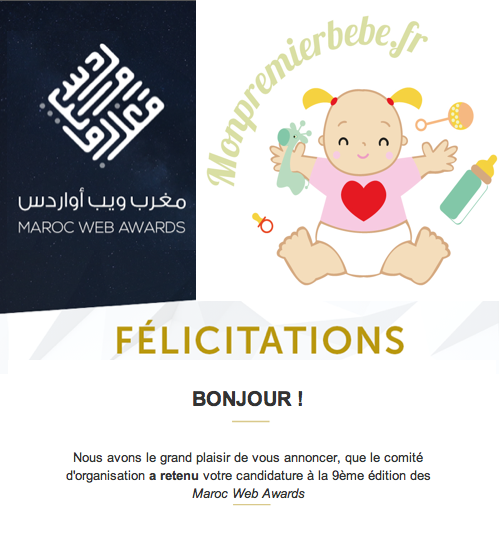 Votez pour monpremierbebe.fr aux Maroc Web Awards