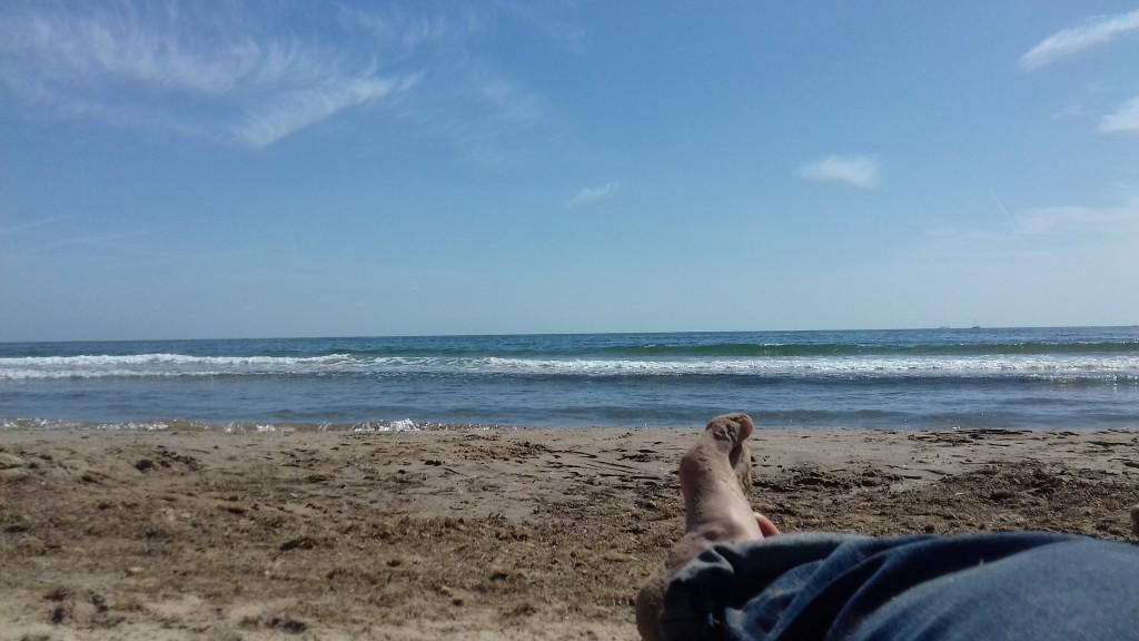 Mimi, papa et maman étaient en vacances à Valencia