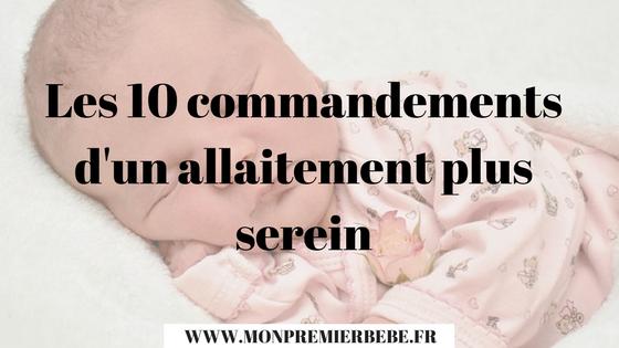 Les 10 commandements d'un allaitement plus serein