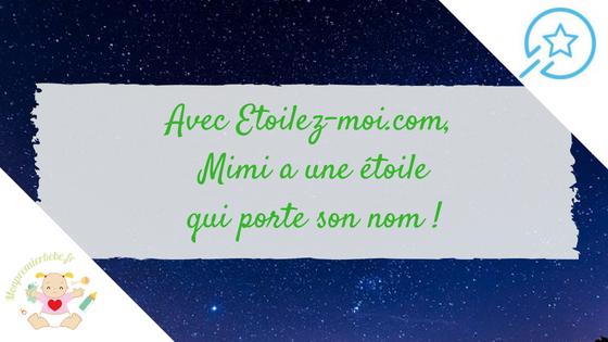 Avec Etoilez-moi.com, Mimi a une étoile qui porte son nom !