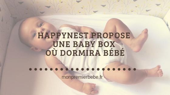 Happynest propose une Baby Box où dormira bébé